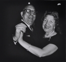 A Jewish Couple Dancing, NYC, 1963 later gelatin silver print of Neil Selkirk 20 x 16 inch / 50.8 x 40.6 cm © Estate of Diane Arbus